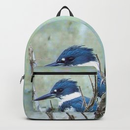 Young Belted Kingfisher (Repost) Backpack