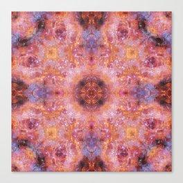 Cosmic Light Mandala Canvas Print