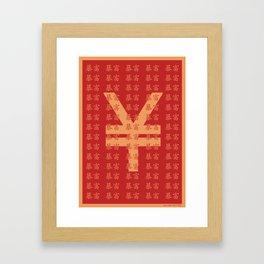 Lucky money RMB Framed Art Print