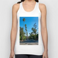 los angeles Tank Tops featuring Los Angeles by Luke Callow