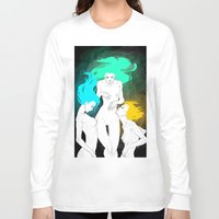 bible Long Sleeve T-shirts featuring Neon Bible by Tiweless Wachine