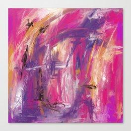 It is so Wavey Bright Pink Magenta Purple Handmade Abstract Canvas Print