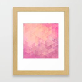Geometric Pink  Framed Art Print