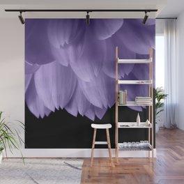 Ultra violet purple flower petals black Wall Mural