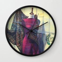 Venetian Textile Window Wall Clock