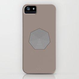 Basic geometry: heptagon iPhone Case