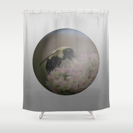 Bumblebee sphere Shower Curtain