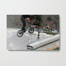 """Getting Air"" - BMX Rider Metal Print"