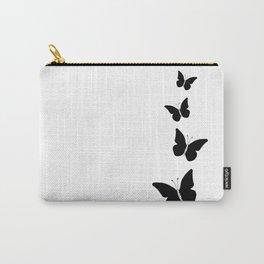 Black Butterflies Ink Art Carry-All Pouch
