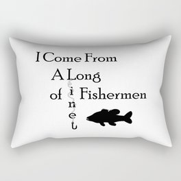 Fishing Line Rectangular Pillow