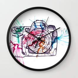 Photographer insecurity Wall Clock