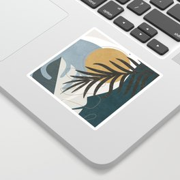 Abstract Tropical Art II Sticker
