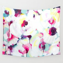 Bloom - Abstract Painting by Jen Sievers Wall Tapestry