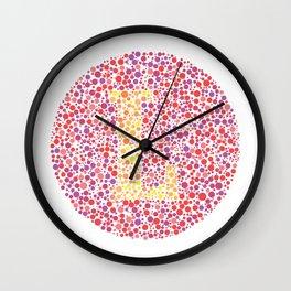 """L"" Eye Test Letter Circle Wall Clock"