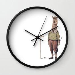 Alpaca Golf Club Wall Clock