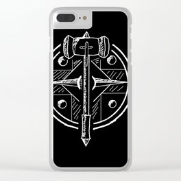 Hammer and Shield Clear iPhone Case
