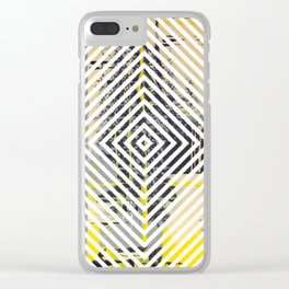 Sunday Morning - psychedelic graphic Clear iPhone Case