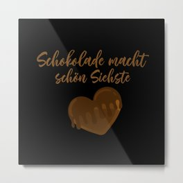Chocolate Beauty Candy Metal Print