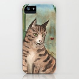 Tabby in the Bamboo iPhone Case