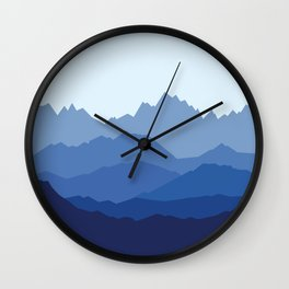 Blue Mountain range Wall Clock