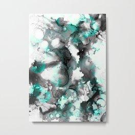abstract smoke sky inks Metal Print