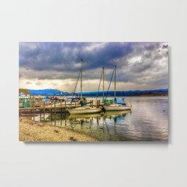Yachts on Lake Windermere Metal Print