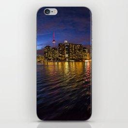 Rainbow city night iPhone Skin