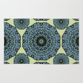 Floral mandala-style, Forget-me-nots 005.5 Rug
