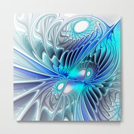 blue, grey and fractal Metal Print