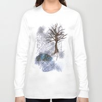climbing Long Sleeve T-shirts featuring Tree Climbing by Ericaphant