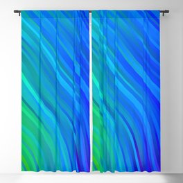 stripes wave pattern 1 stdv Blackout Curtain