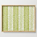 Mid Century Modern Berry Vine Stripes Chartreuse by tonymagner