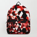 Triangle Geometric Vibrant Red Smoky Galaxy by pldesign