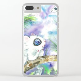 Dreamy squirrel Clear iPhone Case