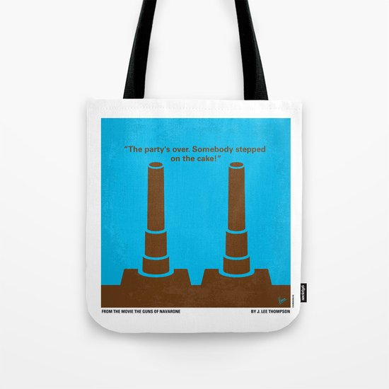 No168 My The Guns of Navarone minimal movie poster Tote Bag