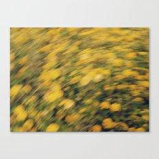 Golden Brush Canvas Print