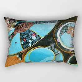 Majolica and Hydrangea Rectangular Pillow