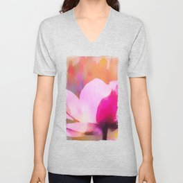 Anemone abstract hand painted Unisex V-Neck