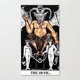 Floral Tarot Print - The Devil Canvas Print