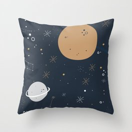 The Moon and the Stars Throw Pillow