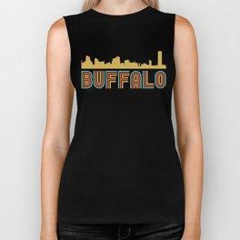 Vintage Style Buffalo New York Skyline Biker Tank