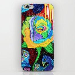 Rainbow Rose iPhone Skin