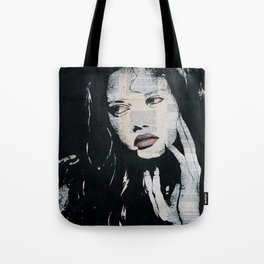 Green eyes, red lips Tote Bag