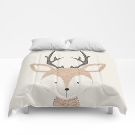 Baby Deer Woodland Animals Cute Fawn Comforters