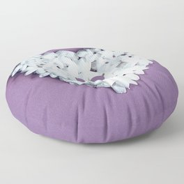 Purple You are in my heart Floor Pillow