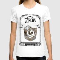 legend of zelda T-shirts featuring Zelda legend - Kokiri shield by Art & Be