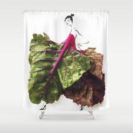 Edible Ensembles: Chard Shower Curtain