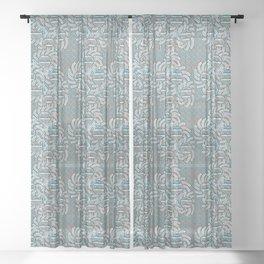 Sun Flower Design Sheer Curtain