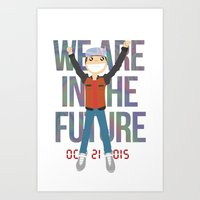 Marty McFly in the Future Art Print