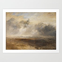 Joseph Mallord William Turner 1775–1851   Breakers on a Flat Beach Art Print
